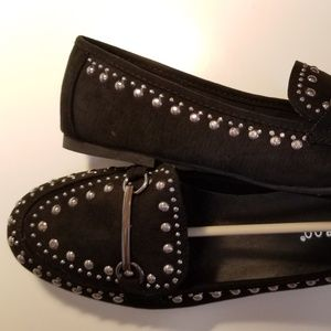Bamboo Studded Flat Loafer